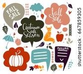 fall  autumn sale design... | Shutterstock . vector #667859305