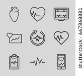heartbeat icons set. set of 9...   Shutterstock .eps vector #667868881