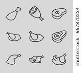 roast icons set. set of 9 roast ...   Shutterstock .eps vector #667870234