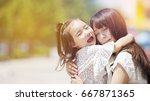 mom and baby. | Shutterstock . vector #667871365