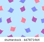book pattern | Shutterstock .eps vector #667871464