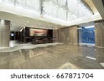 hotel lobby interior with... | Shutterstock . vector #667871704