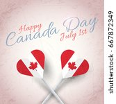 retro background canada day... | Shutterstock .eps vector #667872349