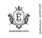monogram logo template with...   Shutterstock .eps vector #667873159