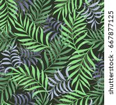 tropical background with palm... | Shutterstock .eps vector #667877125