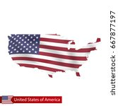 united states of america map... | Shutterstock .eps vector #667877197