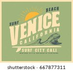surf graphic. sunset. t shirt... | Shutterstock .eps vector #667877311