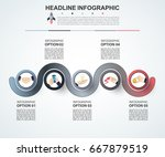 abstract infographics number... | Shutterstock .eps vector #667879519