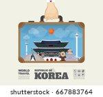 hand carrying korea landmark...   Shutterstock .eps vector #667883764