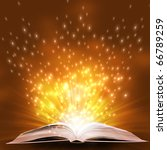 magic book on a  background... | Shutterstock . vector #66789259