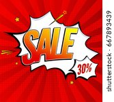 sale pop art splash background  ... | Shutterstock .eps vector #667893439