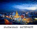 wat trimitr in chinatown or... | Shutterstock . vector #667894699