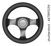 sport steering wheel | Shutterstock .eps vector #667895254