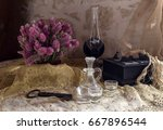 still life with an alcoholic... | Shutterstock . vector #667896544