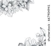 vintage floral background   Shutterstock .eps vector #667904941
