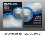business brochure flyer design... | Shutterstock .eps vector #667905919