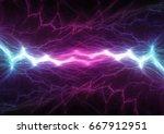 plasma or lightning fractal ... | Shutterstock . vector #667912951