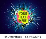 paint stains. grunge background....   Shutterstock .eps vector #667913341