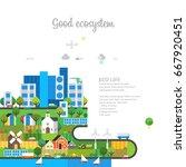 ecology concept. good ecosystem.... | Shutterstock .eps vector #667920451