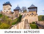 karlstejn castle exterior.... | Shutterstock . vector #667922455