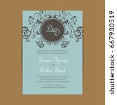 wedding invitation card with...   Shutterstock .eps vector #667930519