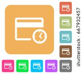credit card transaction history ... | Shutterstock .eps vector #667932457