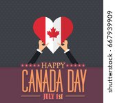 canada day theme  national... | Shutterstock .eps vector #667939909