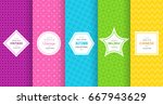 cute bright seamless pattern... | Shutterstock .eps vector #667943629