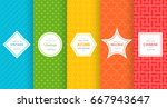 cute bright seamless pattern... | Shutterstock .eps vector #667943647