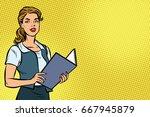 female secretary. business... | Shutterstock .eps vector #667945879
