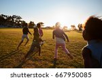 elementary school kids playing... | Shutterstock . vector #667950085