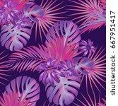 exotic tropical vrctor...   Shutterstock .eps vector #667951417