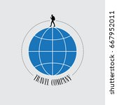 travel company vector logo ... | Shutterstock .eps vector #667952011