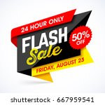 flash sale bright banner design ... | Shutterstock .eps vector #667959541
