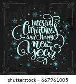 vintage christmas postcards... | Shutterstock .eps vector #667961005