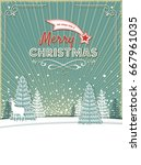 magic christmas background with ...   Shutterstock .eps vector #667961035