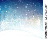 magic christmas background   Shutterstock .eps vector #667961089