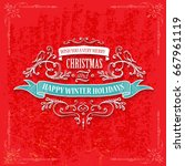 magic christmas background with ...   Shutterstock .eps vector #667961119