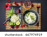 chicken pho is a famous... | Shutterstock . vector #667974919