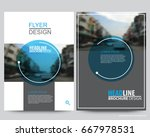 abstract vector modern flyers... | Shutterstock .eps vector #667978531