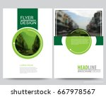 abstract vector modern flyers... | Shutterstock .eps vector #667978567