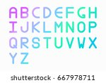 round alphabet font with a... | Shutterstock .eps vector #667978711