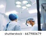 breast augmentation ...   Shutterstock . vector #667980679