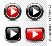 vector play button icon on... | Shutterstock .eps vector #667984429