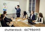business people partners... | Shutterstock . vector #667986445