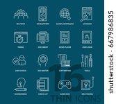set of thin line modern icons....   Shutterstock .eps vector #667986835