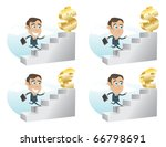 business man climbing up the... | Shutterstock .eps vector #66798691