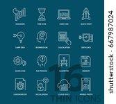 set of thin line modern icons....   Shutterstock .eps vector #667987024