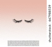 eye lashes vector icon. lashes...   Shutterstock .eps vector #667988539