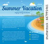 vector illustration of the sea... | Shutterstock .eps vector #667991461